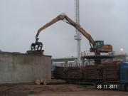 Oprava pylonu vykladače dřeva CASE
